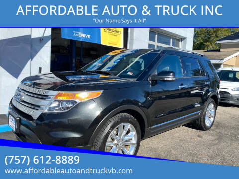 2015 Ford Explorer for sale at AFFORDABLE AUTO & TRUCK INC in Virginia Beach VA
