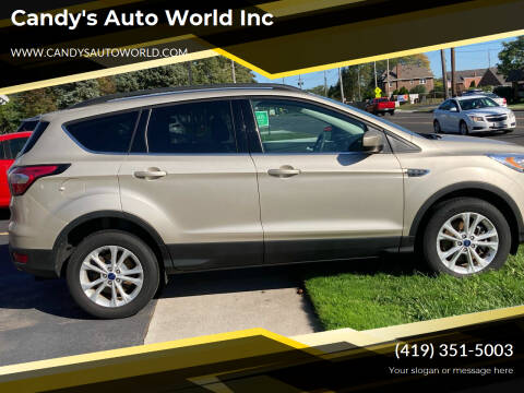 2017 Ford Escape for sale at Candy's Auto World Inc in Toledo OH
