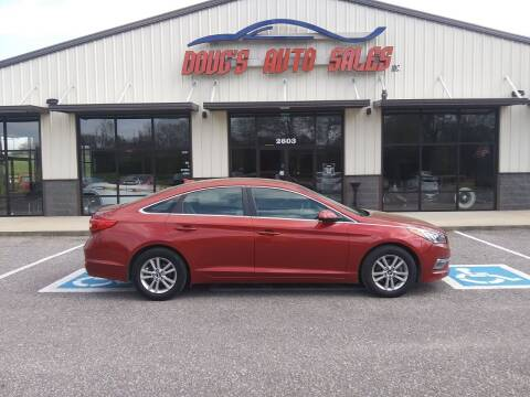 2015 Hyundai Sonata for sale at DOUG'S AUTO SALES INC in Pleasant View TN