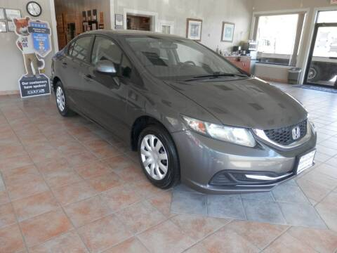 2013 Honda Civic for sale at ABSOLUTE AUTO CENTER in Berlin CT