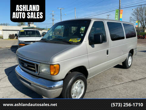 2003 Ford E-Series Wagon for sale at ASHLAND AUTO SALES in Columbia MO