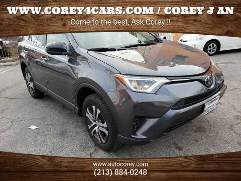 2018 Toyota RAV4 for sale at WWW.COREY4CARS.COM / COREY J AN in Los Angeles CA