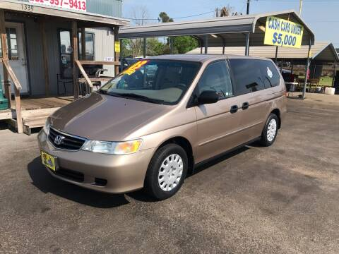 2003 Honda Odyssey for sale at Texas 1 Auto Finance in Kemah TX