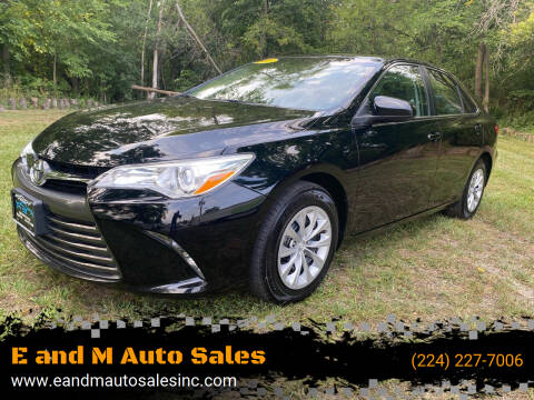 2015 Toyota Camry for sale at E and M Auto Sales in Elgin IL