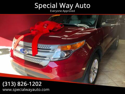 2013 Ford Explorer for sale at Special Way Auto in Hamtramck MI