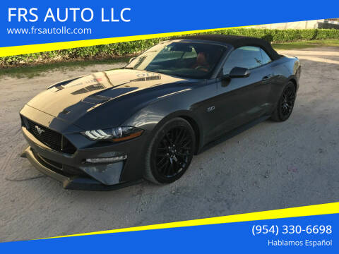 2018 Ford Mustang for sale at FRS AUTO LLC in West Palm Beach FL