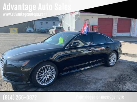 2017 Audi A6 for sale at Advantage Auto Sales in Johnstown PA