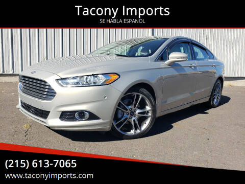 2016 Ford Fusion for sale at Tacony Imports in Philadelphia PA