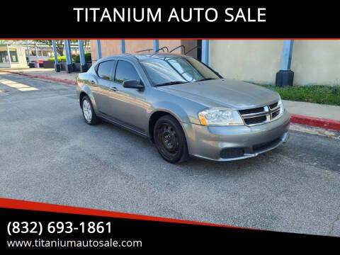 2013 Dodge Avenger for sale at TITANIUM AUTO SALE in Houston TX