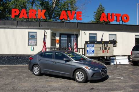 2018 Hyundai Elantra for sale at Park Ave Auto Inc. in Worcester MA