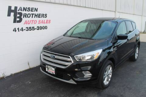 2019 Ford Escape for sale at HANSEN BROTHERS AUTO SALES in Milwaukee WI
