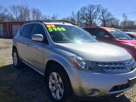 2007 Nissan Murano for sale at McAllister's Auto Sales LLC in Van Buren AR