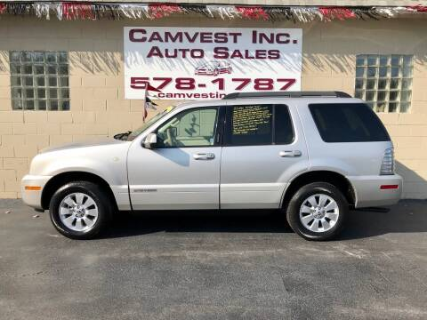 2007 Mercury Mountaineer for sale at Camvest Inc. Auto Sales in Depew NY