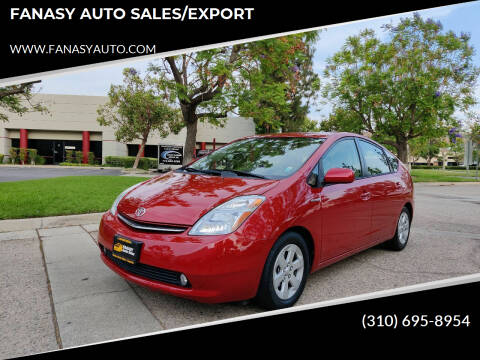 2006 Toyota Prius for sale at FANASY AUTO SALES/EXPORT in Yorba Linda CA