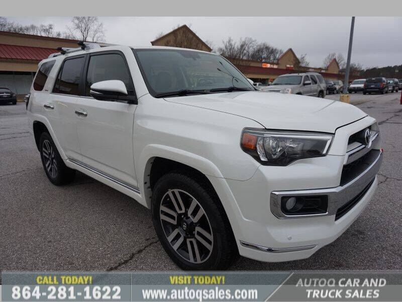 2016 Toyota 4Runner for sale at Auto Q Car and Truck Sales in Mauldin SC