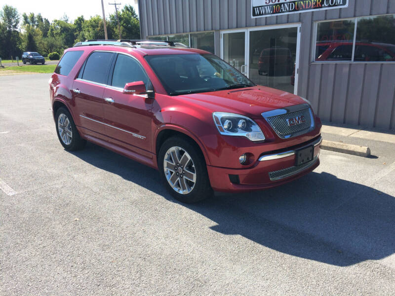 2012 GMC Acadia for sale at KEITH JORDAN'S 10 & UNDER in Lima OH