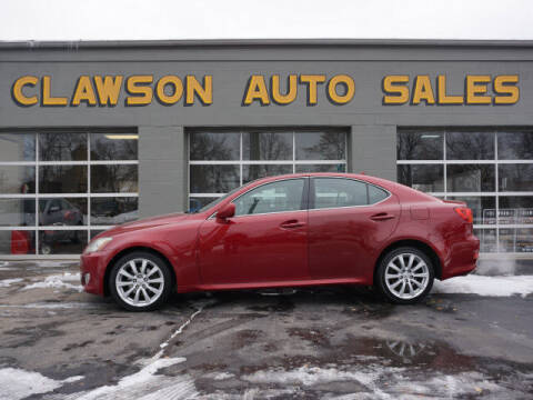 2007 Lexus IS 250 for sale at Clawson Auto Sales in Clawson MI