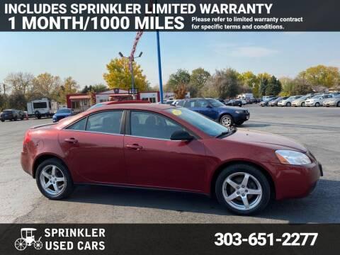 2009 Pontiac G6 for sale at Sprinkler Used Cars in Longmont CO
