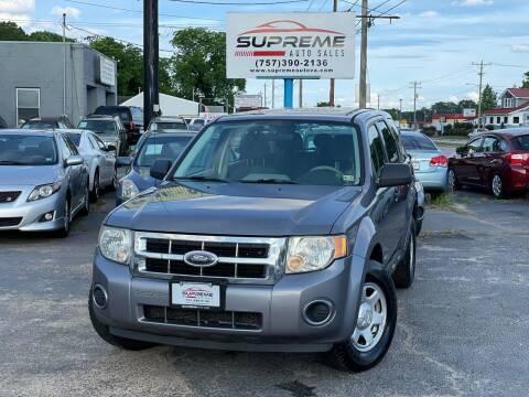 2008 Ford Escape for sale at Supreme Auto Sales in Chesapeake VA