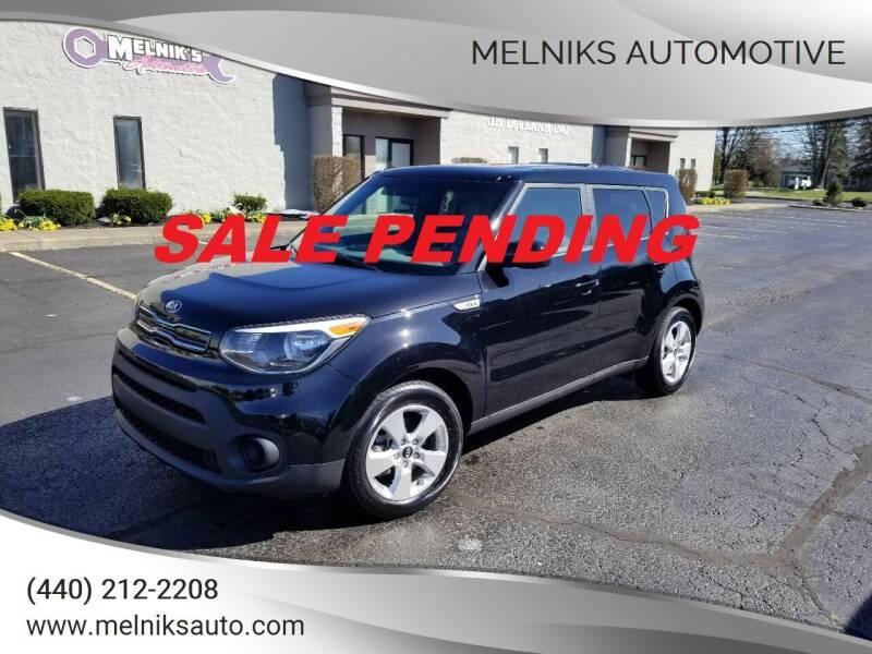 2019 Kia Soul for sale at Melniks Automotive in Berea OH