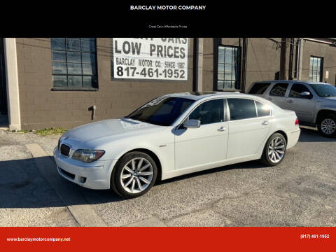 2007 BMW 7 Series for sale at BARCLAY MOTOR COMPANY in Arlington TX
