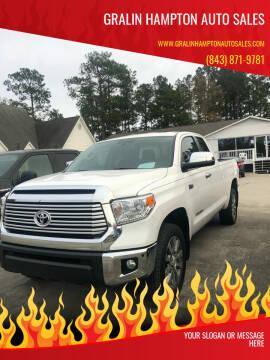 2017 Toyota Tundra for sale at Gralin Hampton Auto Sales in Summerville SC