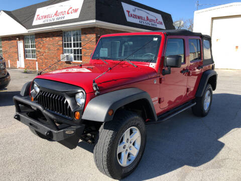 2010 Jeep Wrangler Unlimited for sale at tazewellauto.com in Tazewell TN