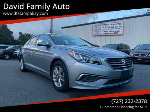 2017 Hyundai Sonata for sale at David Family Auto in New Port Richey FL