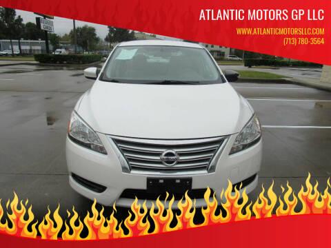 2013 Nissan Sentra for sale at ATLANTIC MOTORS GP LLC in Houston TX