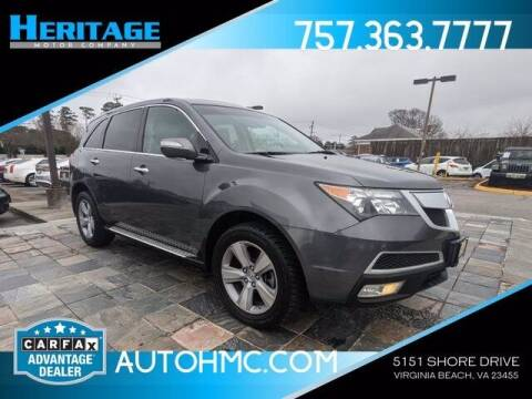 2011 Acura MDX for sale at Heritage Motor Company in Virginia Beach VA