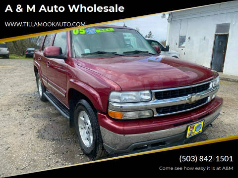 2005 Chevrolet Tahoe for sale at A & M Auto Wholesale in Tillamook OR