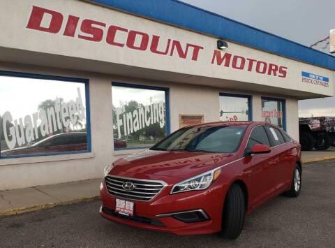 2017 Hyundai Sonata for sale at Discount Motors in Pueblo CO