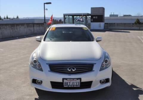 2013 Infiniti G37 Sedan for sale at AMC Auto Sales Inc in San Jose CA