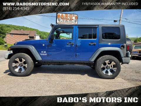 2009 Jeep Wrangler Unlimited for sale at BABO'S MOTORS INC in Johnstown PA