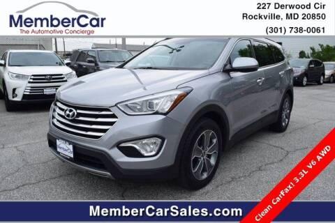 2016 Hyundai Santa Fe for sale at MemberCar in Rockville MD