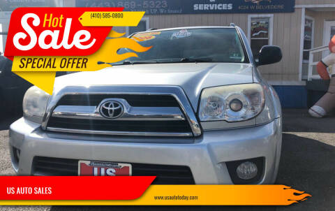 2008 Toyota 4Runner for sale at US AUTO SALES in Baltimore MD