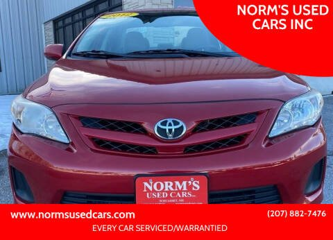 2012 Toyota Corolla for sale at NORM'S USED CARS INC in Wiscasset ME