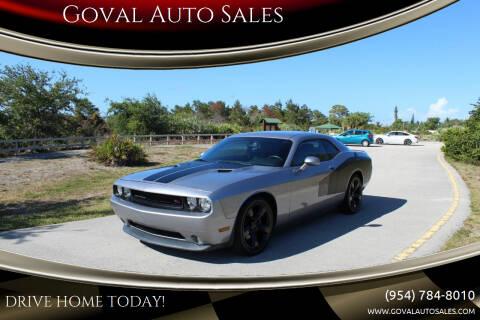 2013 Dodge Challenger for sale at Goval Auto Sales in Pompano Beach FL