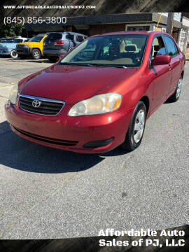 2007 Toyota Corolla for sale at Affordable Auto Sales of PJ, LLC in Port Jervis NY