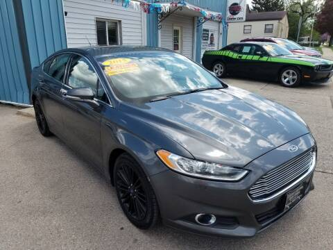 2015 Ford Fusion for sale at CENTER AVENUE AUTO SALES in Brodhead WI