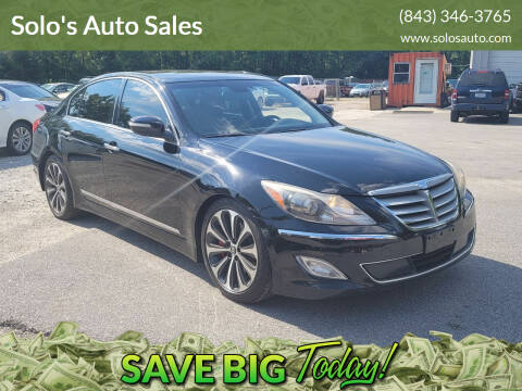2012 Hyundai Genesis for sale at Solo's Auto Sales in Timmonsville SC