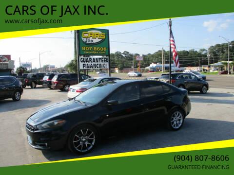 2013 Dodge Dart for sale at CARS OF JAX INC. in Jacksonville FL