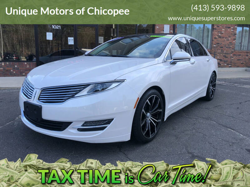 2014 Lincoln MKZ for sale at Unique Motors of Chicopee in Chicopee MA