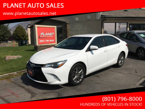 2017 Toyota Camry for sale at PLANET AUTO SALES in Lindon UT