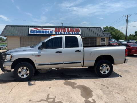 2007 Dodge Ram Pickup 2500 for sale at Seminole Auto Sales in Seminole OK