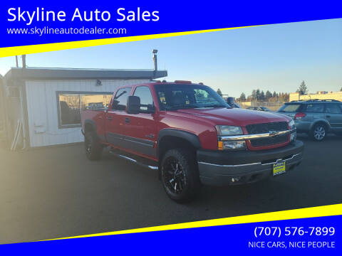 2004 Chevrolet Silverado 2500HD for sale at Skyline Auto Sales in Santa Rosa CA