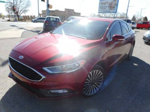 2017 Ford Fusion for sale at AUGE'S SALES AND SERVICE in Belen NM