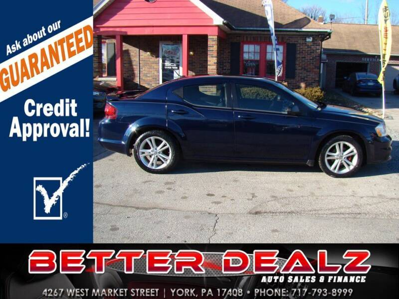 2013 Dodge Avenger for sale at Better Dealz Auto Sales & Finance in York PA