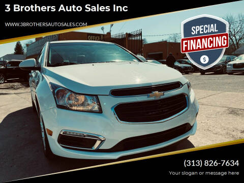 2015 Chevrolet Cruze for sale at 3 Brothers Auto Sales Inc in Detroit MI