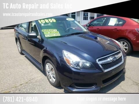 2013 Subaru Legacy for sale at TC Auto Repair and Sales Inc in Abington MA
